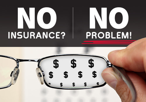 eye exam and glasses without insurance in Illinois