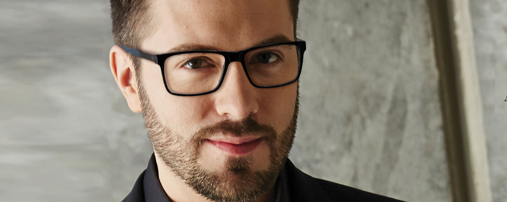 Man wearing Danny Gokey eyeglasses