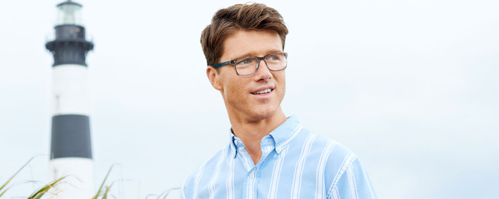 Man wearing IZOD glasses