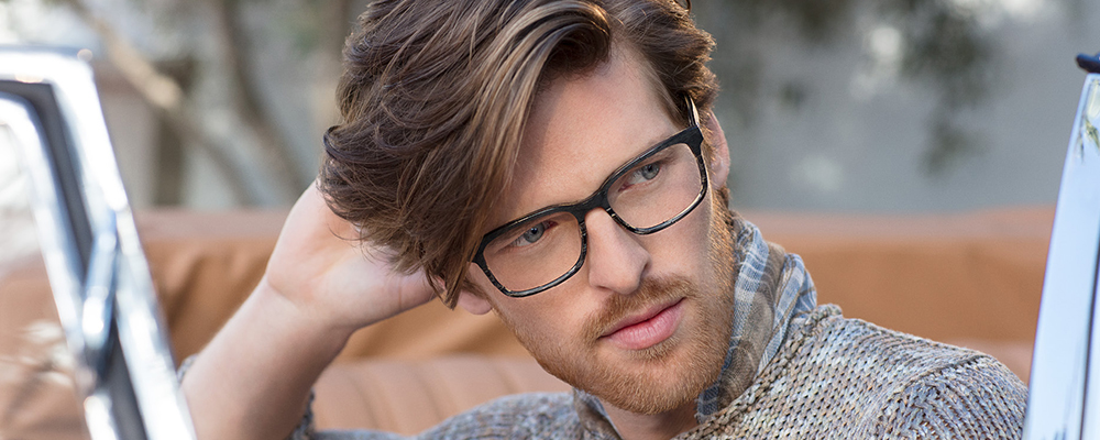 Man wearing Joseph Abboud glasses