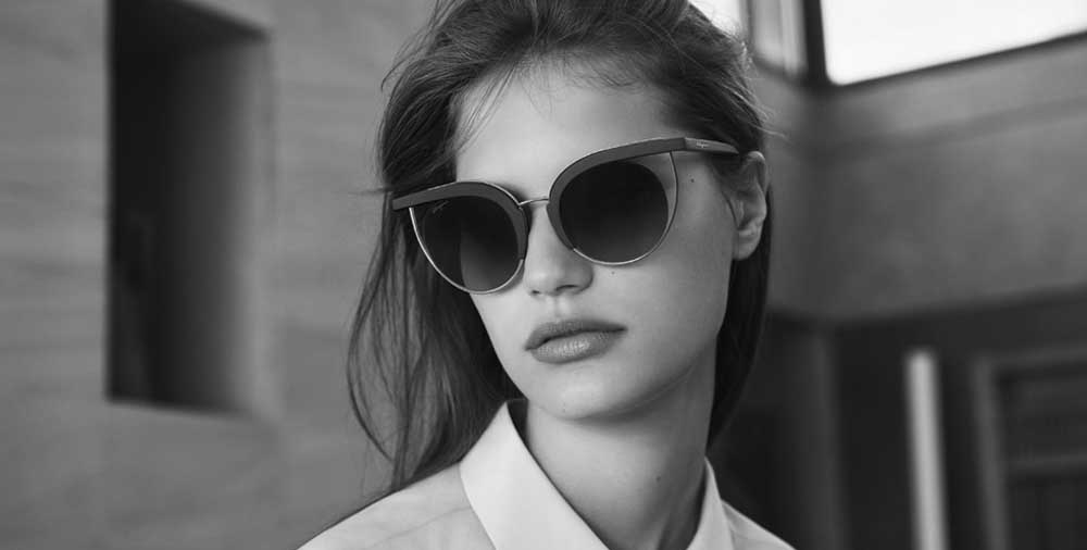 Woman wearing Salvatore Ferragamo glasses