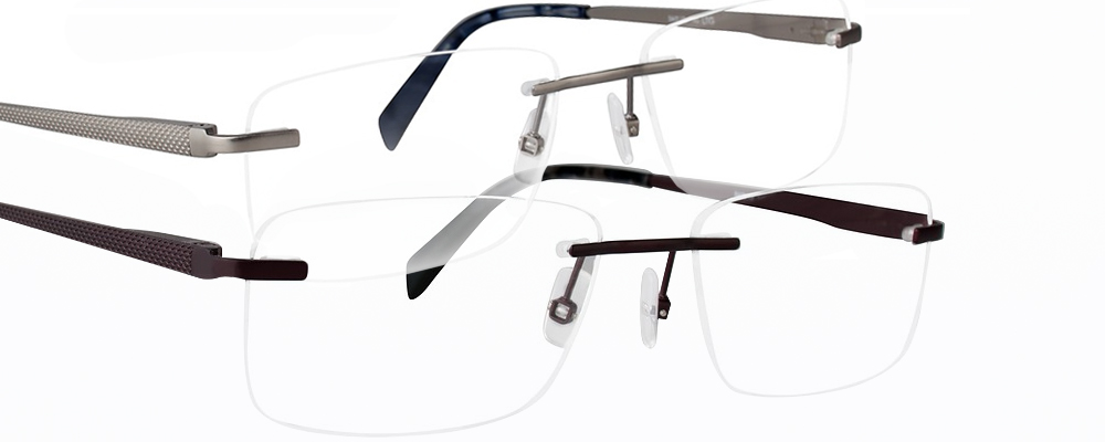 Two pairs of Totally Rimless eyeglasses