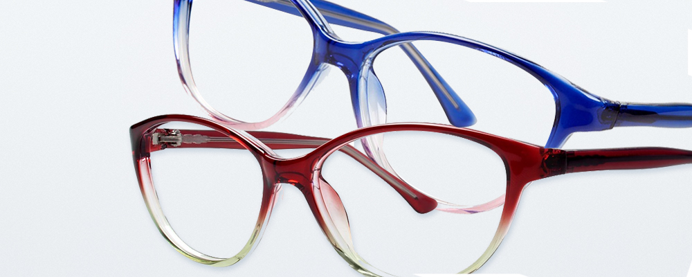 Two pairs of Modern Plastics eyewear