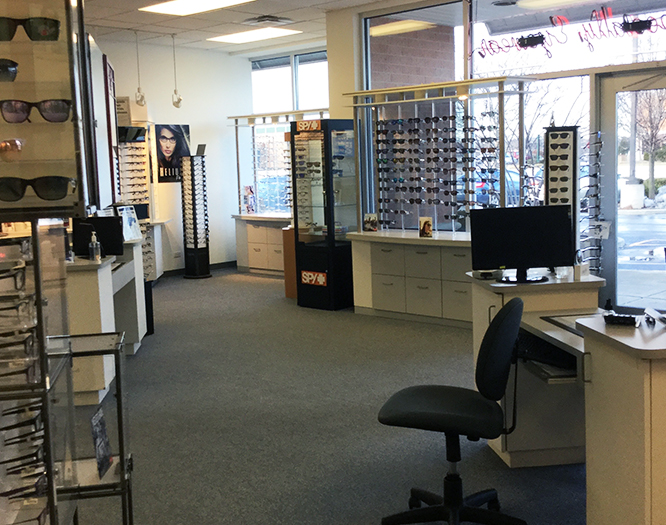 Interior view of Crystal Lake Illinois eye care center