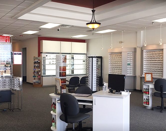 Interior view of Naperville eye care center
