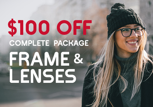 Discount designer frame and lens package in the Chicago area