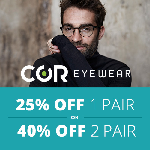 25 Percent Off all COR Eyewear