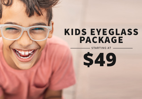 Discount package pricing on kids' eyeglasses near Chicago