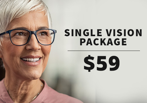 Discount price on single vision eyeglasses near Chicago
