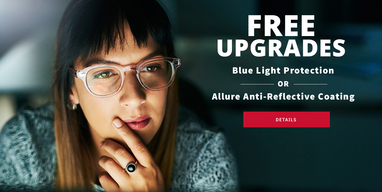 Free lens treatment upgrade with eyeglass purchase near Chicago