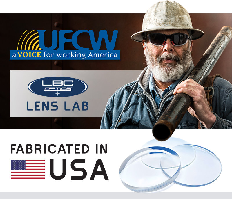 UFCW Made in America Lenses for Safety Glasses