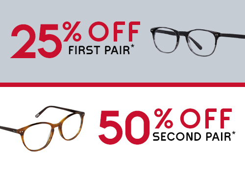 Discount offer for eyewear and contact lenses